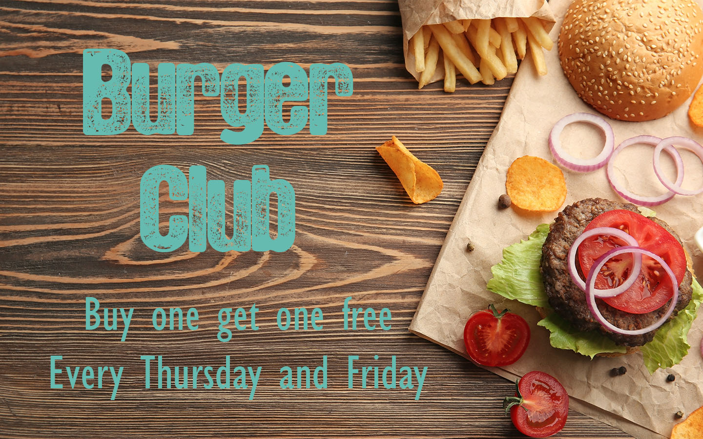 Burger Club thurs fri