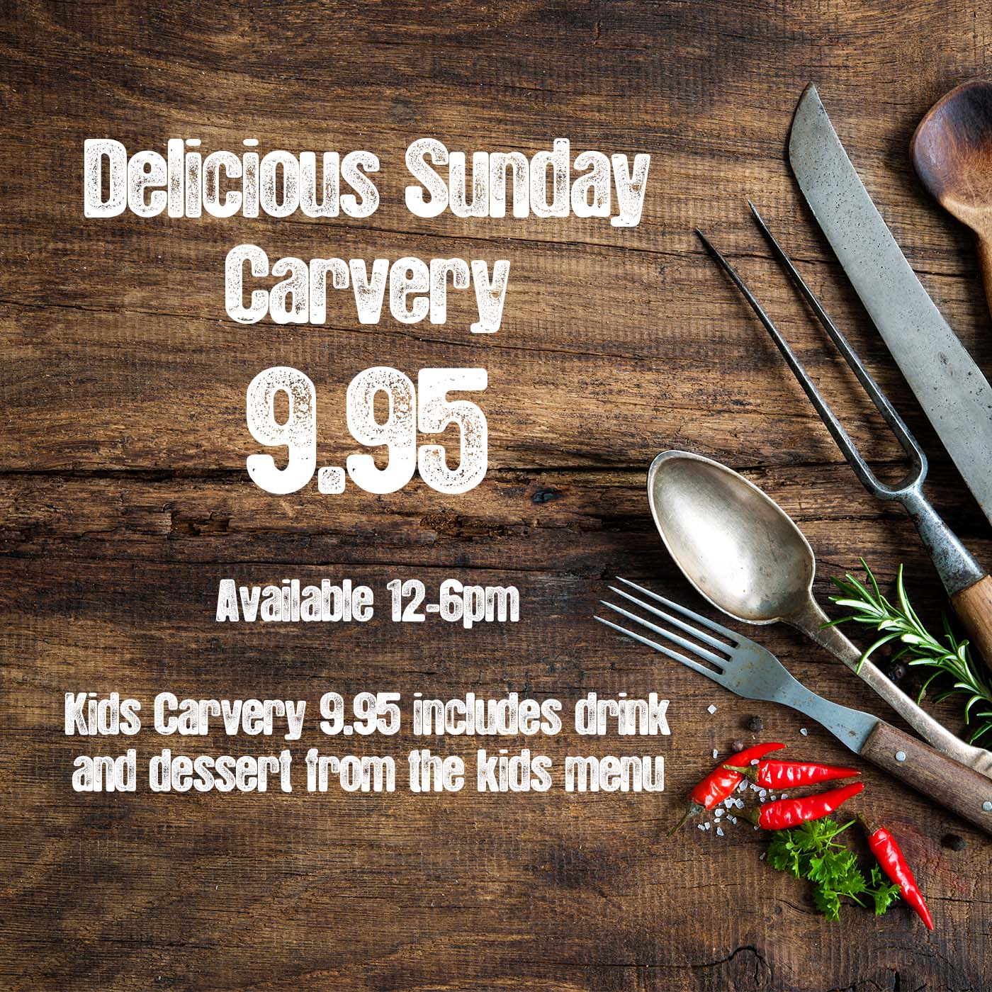Sunday Carvery - Web Offer - Jan 2019
